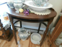 Vintage Solid Wood Side Table at KeepSakes Antiques