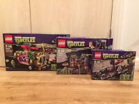 Collection of Lego Teenage Mutant Ninja Turtles brand new and sealed discontinued sets