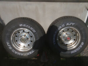 4-31x10.5-15 All Terrain Tires on Ford Aluminum Rims