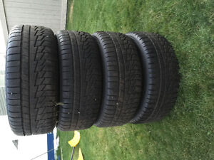 Winter tires almost new