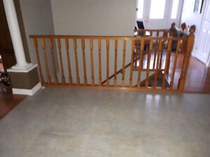 Golden oak railing for sale