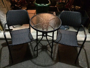 3 Piece Outdoor Bistro Set For Sale