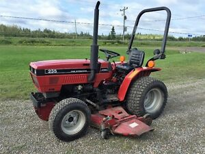 Case 235 Compact Tractor with mower deck