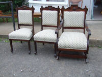 ANTIQUE PARLOR CHAIRS  -VERY NICE