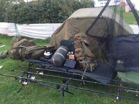 Full carp fishing set up every think you need fox Nash jrc