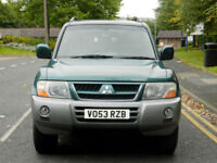2003 53 Mitsubishi Shogun 3.2 DI-D Elegance 5dr WITH FSH+LEATHER+SUNROOF+7 SEATS