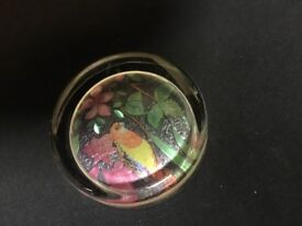 English glass paperweight