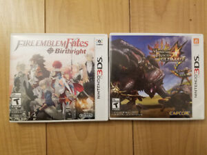 Fire emblem fates birthright and Monster hunter 4 3DS