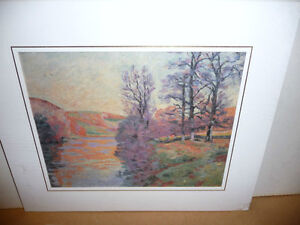 "Impressionist ""Autumn Reflections' Matted Art Print"