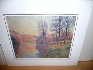 "Impressionist ""Autumn Reflections' Matted Art Print Stratford Kitchener Area image 1"