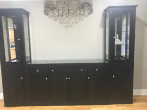 Dining room storage/display unit. Custom built Handstone brand