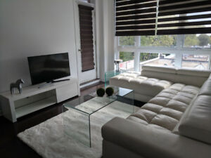 Luxurious 2 bedroom cond furnished with indoor heated garage NDG