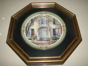 "Trisha Romance ""The Pathway"" framed plate"