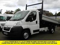 2012 CITROEN RELAY 35 L2 ALLOY TIPPER HDI DIESEL VAN WITH ONLY 48.000 MILES FROM