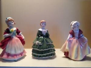 Royal Doulton mini ladies: Valerie, Belle and Dinky Do