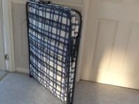 Folding single bed with mattress, excellent condition
