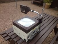 Overhead projector.
