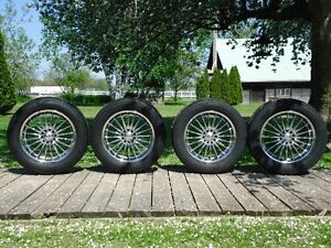 """FOSE  17""""  MAG  WHEELS  AND  COOPER CS4  TIRES."""
