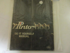 1971 FORD PINTO DO IT YOURSELF MANUAL ISSUED BY FORD