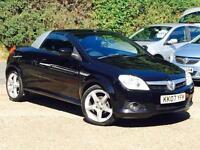 2007 Vauxhall Tigra 1.4i 16v ( a/c ) Exclusiv Black only 65,713 Miles FSH SUPERB