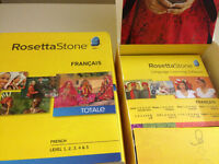 Rosetta Stone French Learning DVD Software Practice discs