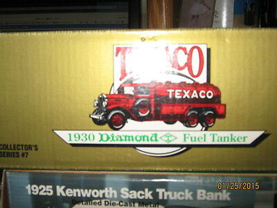 1990 Texaco  1930 Diamond Fuel Tanker #7 in Collector Series-FREE SHIPPING