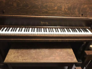 Doherty clinton canada made SOLID oak PIANO 1920's