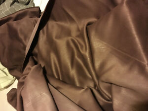 4 brown curtain panels