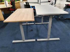Electric Height adjustable desks, in stock, huge Glasgow Showroom