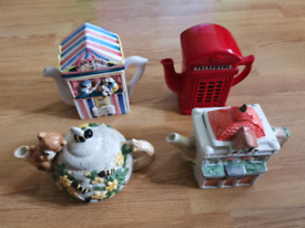 Tea pots. 4 in total. All very good condition.