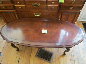 Cherry Wood Coffee Table for Sale at Nearly New Port Hope Peterborough Peterborough Area image 1