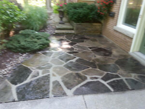 Exposed Aggregate, Stamped Concrete, Flagstone - Sealing London Ontario image 4
