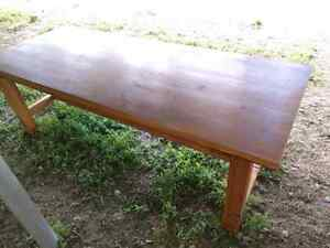 Massive harvest style table. 8ft long.