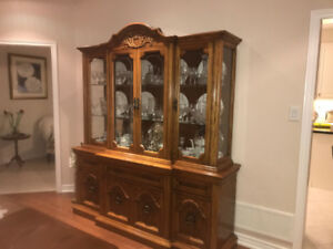 Oak Dining Room Wall Cabinet