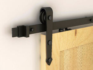 Barn door sliding hardware with soft close, and custom doors