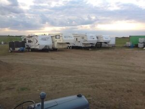 Outdoor RV Trailer Boat Vehicle Storage and Parking