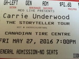 CARRIE UNDERWOOD, EASTON CORBIN, SWON BROTHERS TICKETS (4)