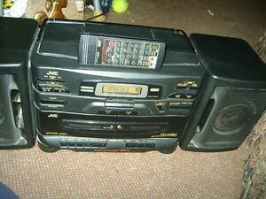 JVC  PC-X130 BOOM BOX & REMOTE