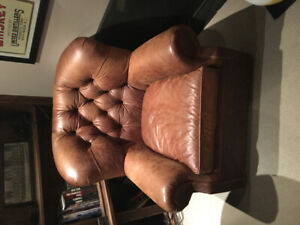 Restoration Hardware Leather Sofa Chair