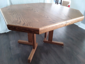 Danish modern style extendable dining table