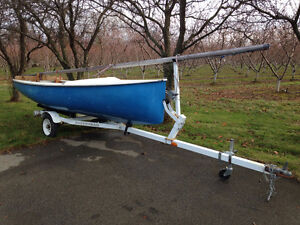 15.5' Albacore Sailboat with trailer