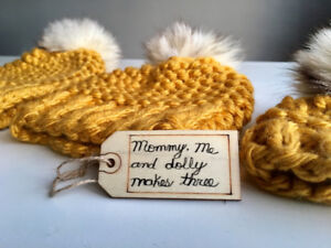 MOMMY, ME AND DOLLY MAKES THREE TOQUE SETS