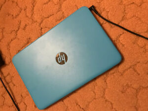 HP Blue laptop 29GB storage