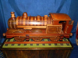 Superb quality Handmade wooden automaton train