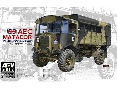 Afv Club Wwii British Aec Matador Mid Prod Type Transport Truck Model Kit 1 35