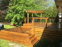 Get that Deck & Fence ready for SUMMER FUN! ~ Paint Stain Wash