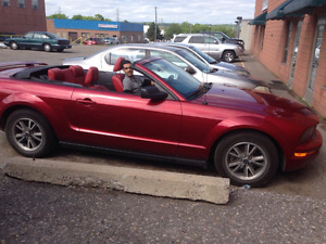 Mustang Convertible V6 Red on Red 2005
