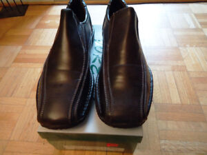 Men Black Leather Shoes By Forest (Size 10/43)