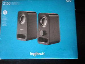 Logitech Z150 pair of media speakers, new in open box.