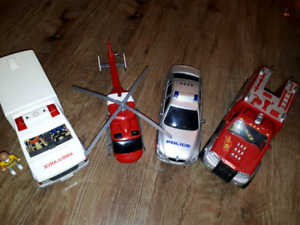 Emergency Toy Vehicles for Sale. Ambulance, Police, Fire, Heli